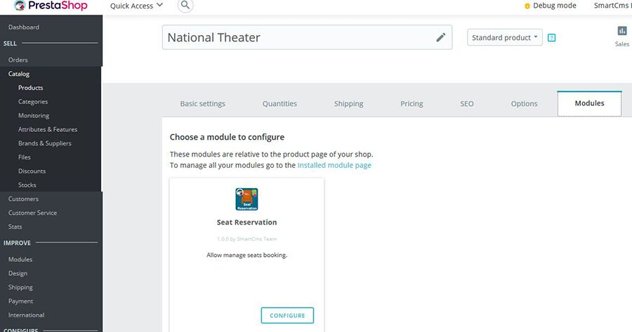 Seat Reservation Booking for PrestaShop Screenshot 5