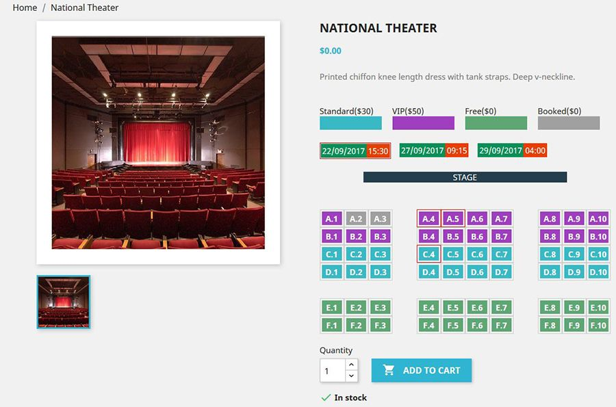 Seat Reservation Booking for PrestaShop Screenshot 8