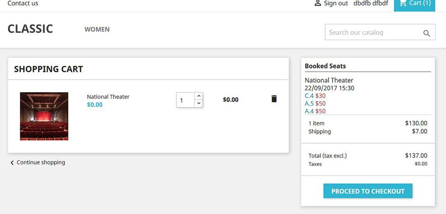 Seat Reservation Booking for PrestaShop Screenshot 9