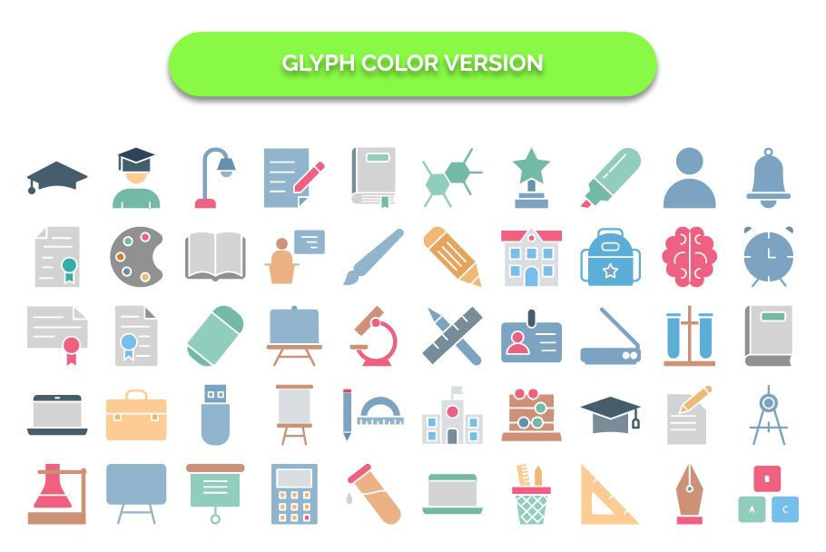 950 Schooling And Education Vector Icons Pack Screenshot 5