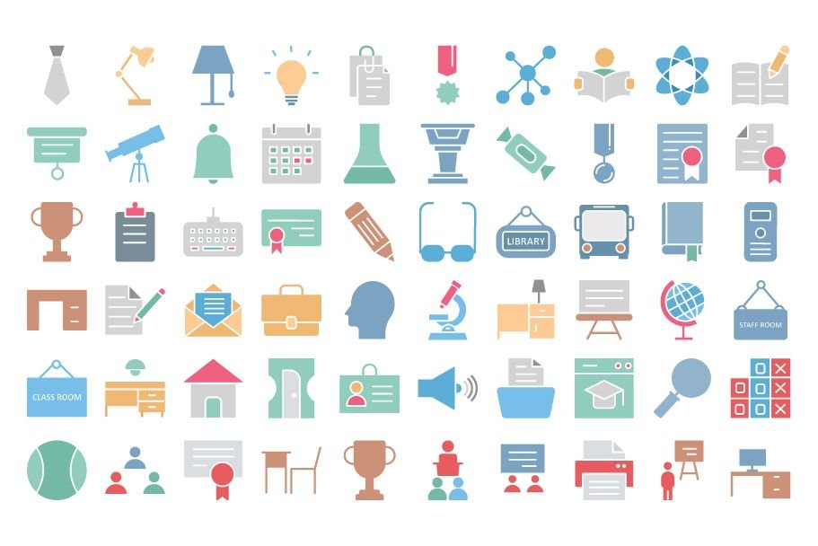 950 Schooling And Education Vector Icons Pack Screenshot 6