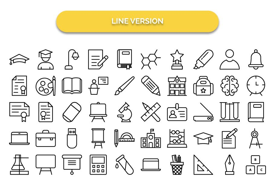 950 Schooling And Education Vector Icons Pack Screenshot 9