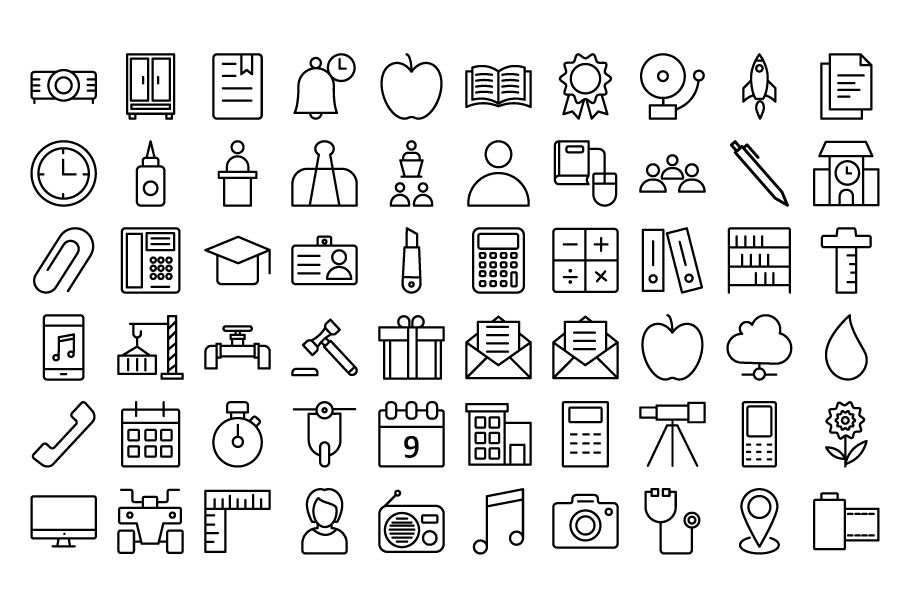 950 Schooling And Education Vector Icons Pack Screenshot 11