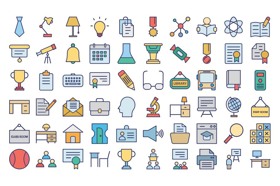950 Schooling And Education Vector Icons Pack Screenshot 12