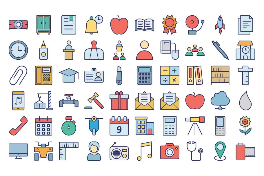 950 Schooling And Education Vector Icons Pack Screenshot 14