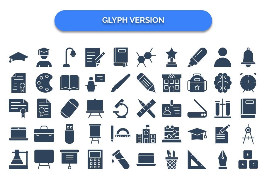 950 Schooling And Education Vector Icons Pack Screenshot 20