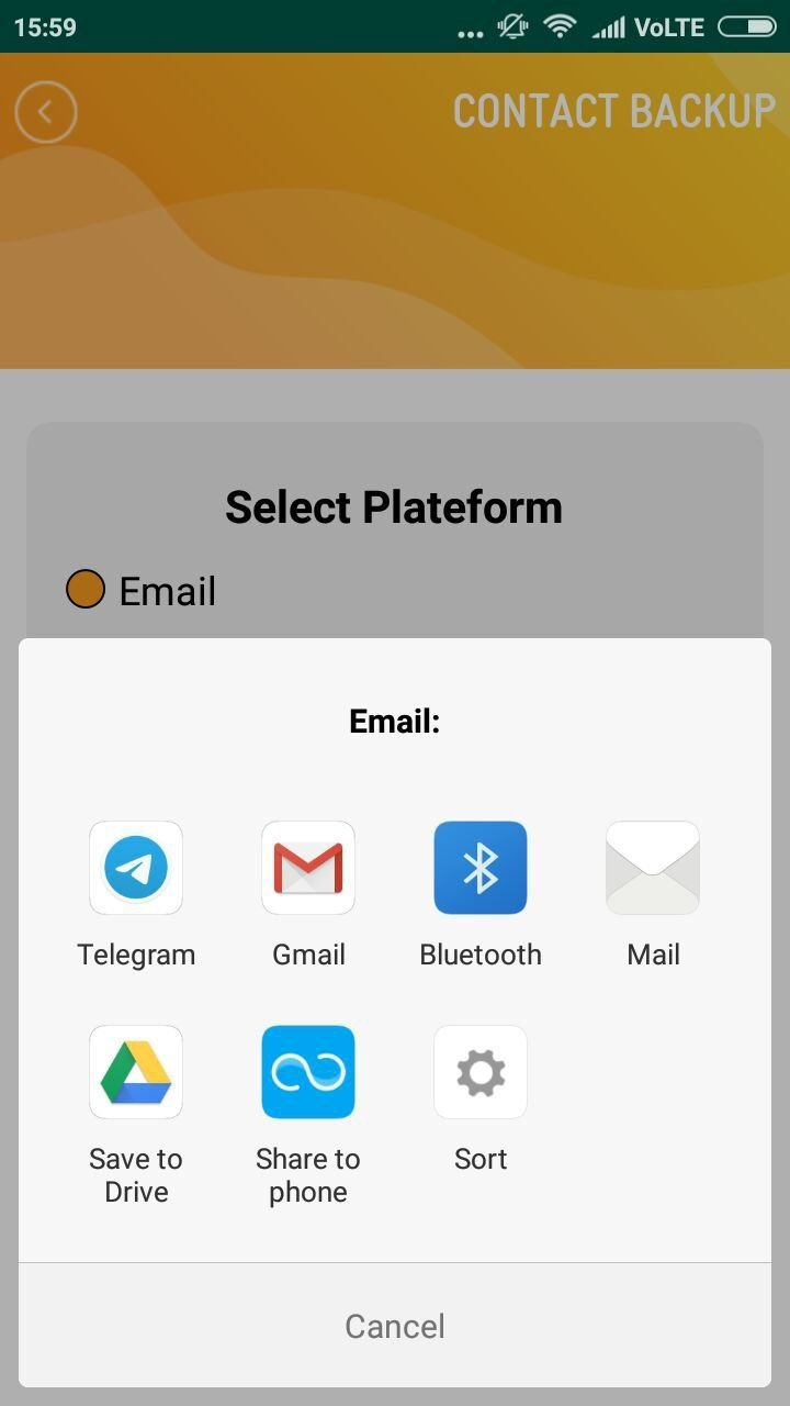 Contact Backup And Restore - Android Source Code Screenshot 10