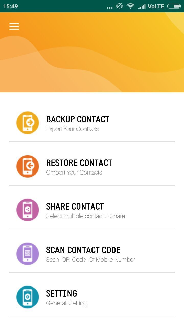 Contact Backup And Restore - Android Source Code Screenshot 13