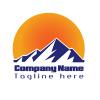Mountain Logo With Moon Light