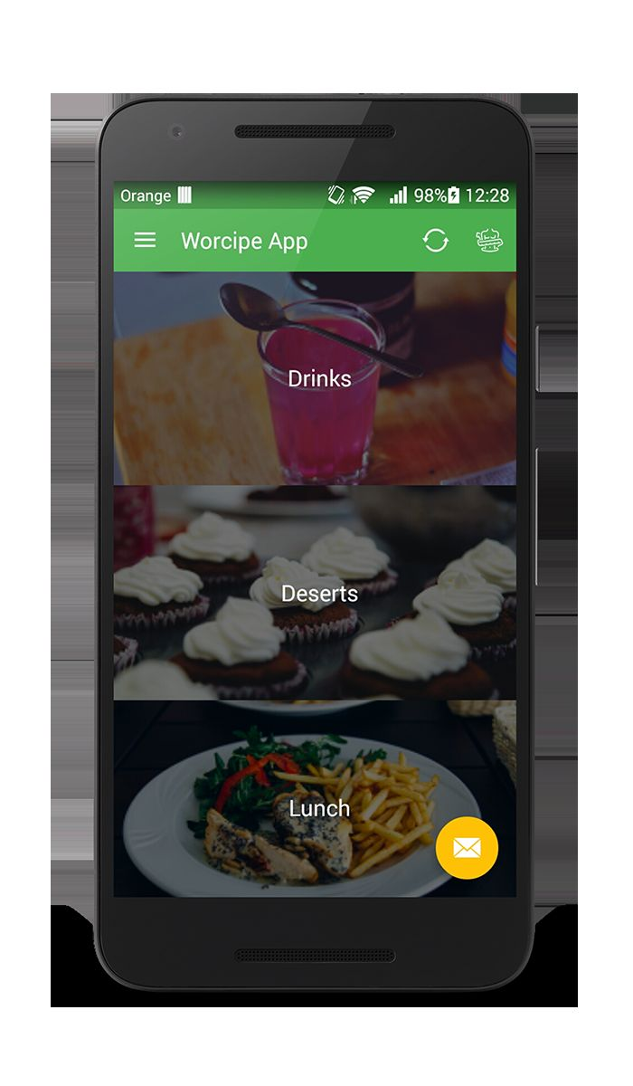 Worcipe – Android Recipe App Source Code Screenshot 5