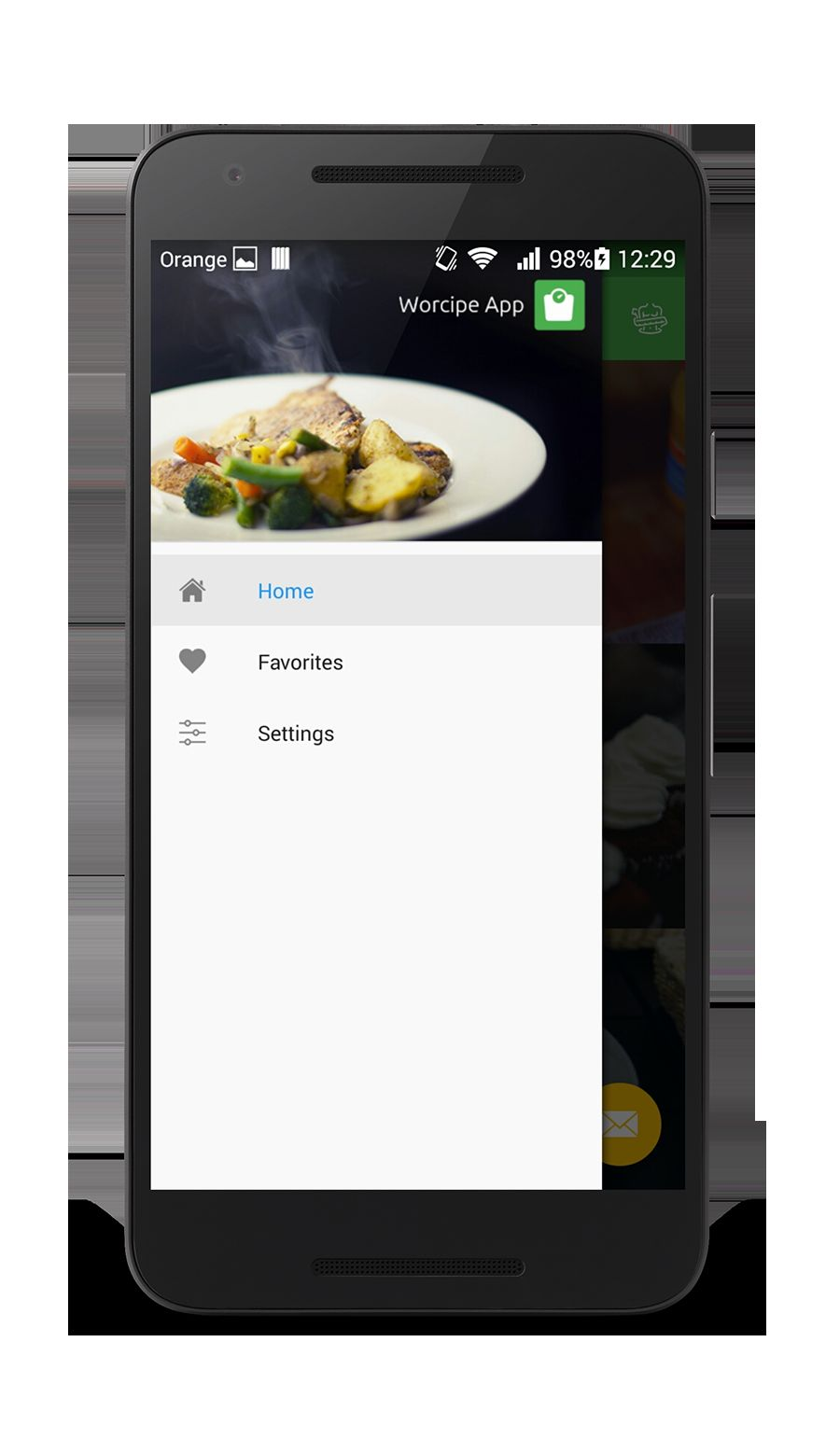 Worcipe – Android Recipe App Source Code Screenshot 7