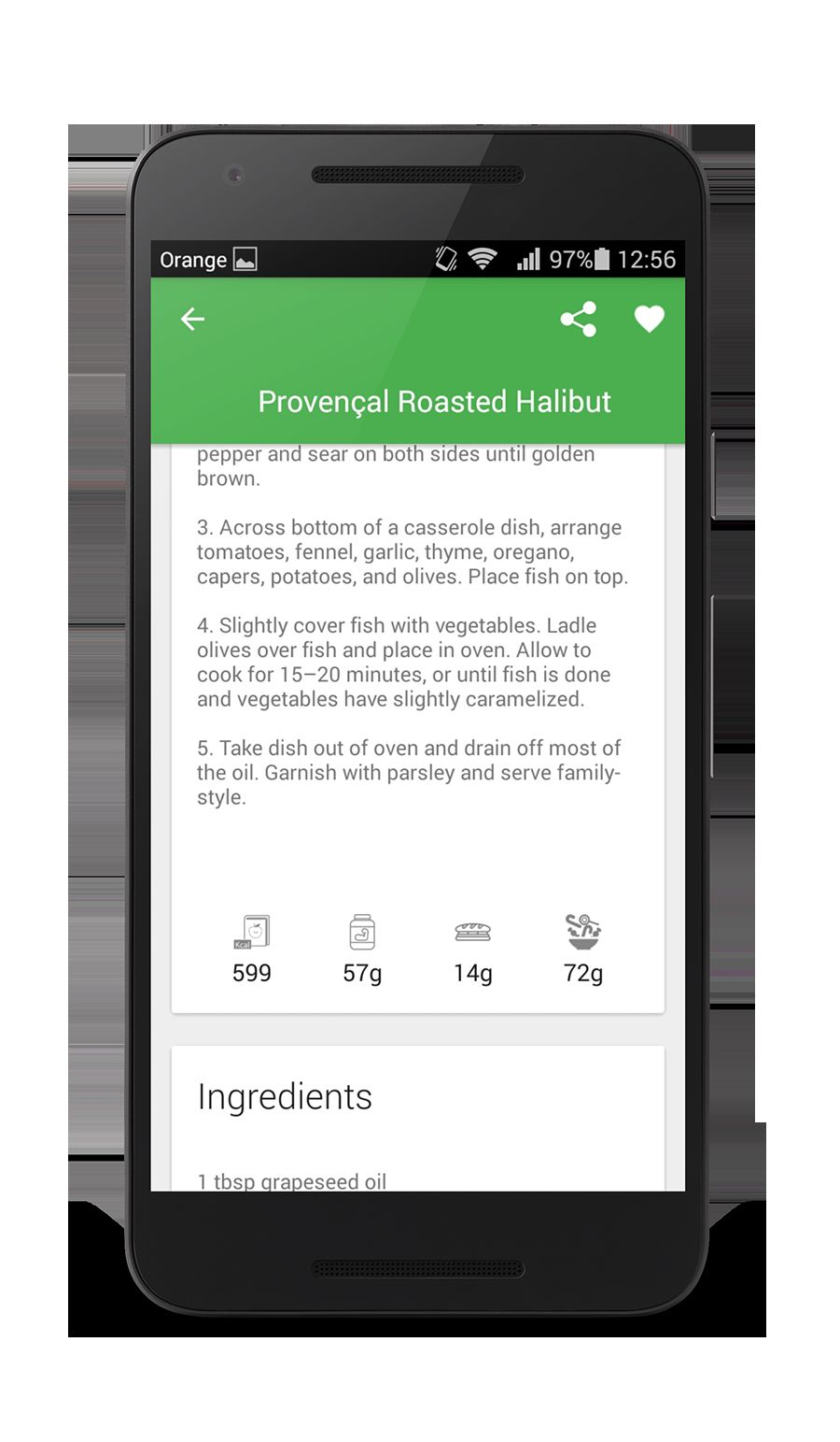 Worcipe – Android Recipe App Source Code Screenshot 12