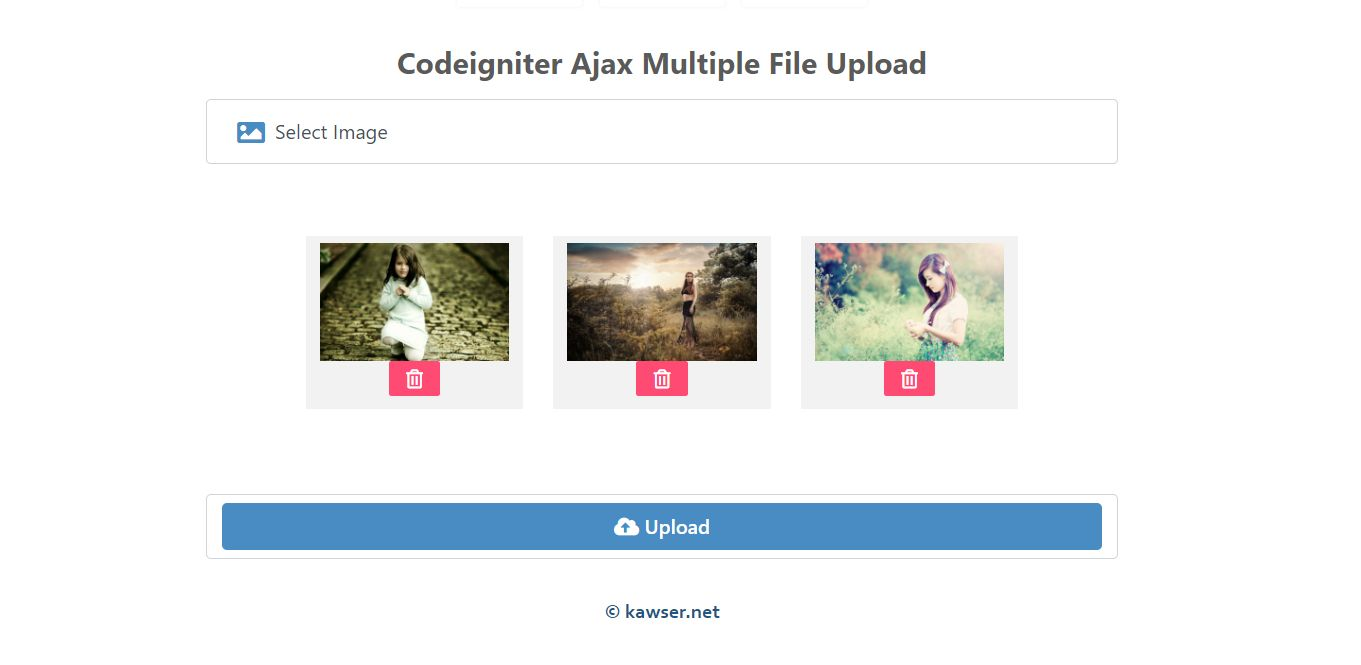 Codeigniter Ajax Multiple File Upload Screenshot 1
