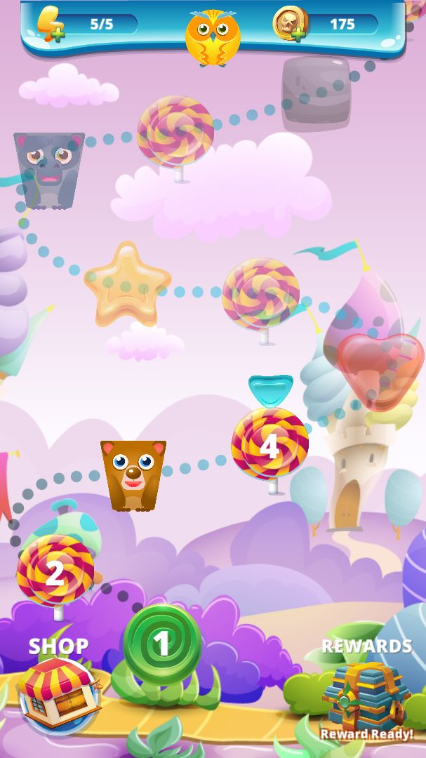 Sweety Shapes - Match-3 Unity Source Code Screenshot 1