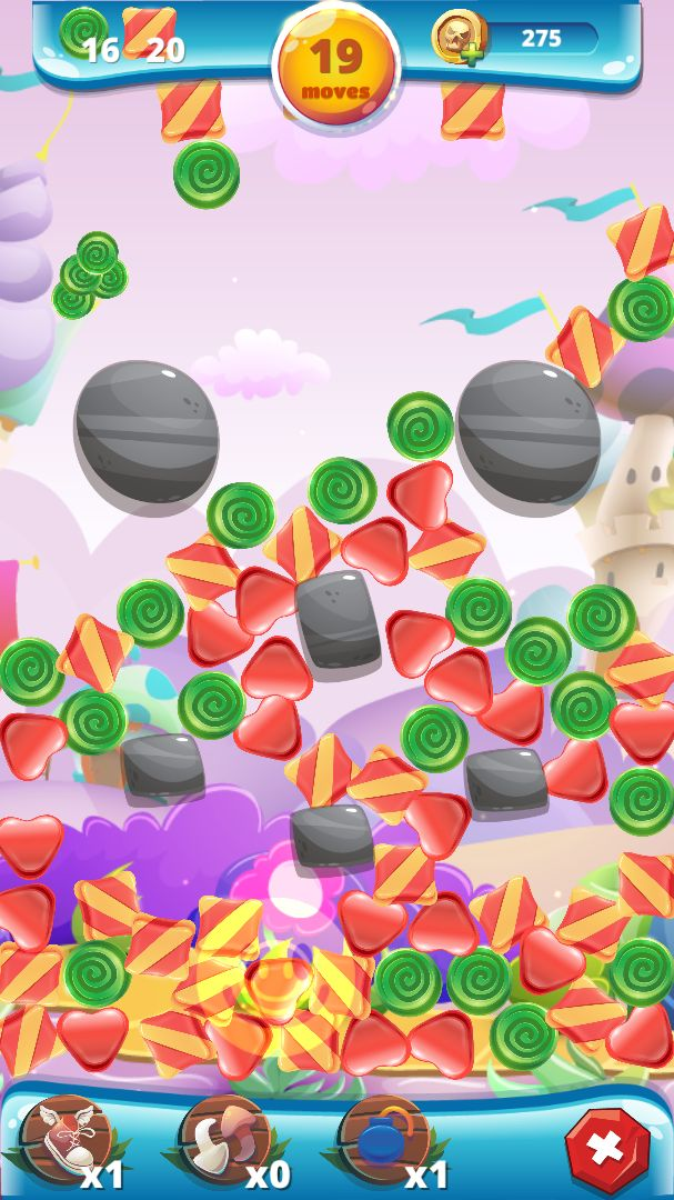 Sweety Shapes - Match-3 Unity Source Code Screenshot 5