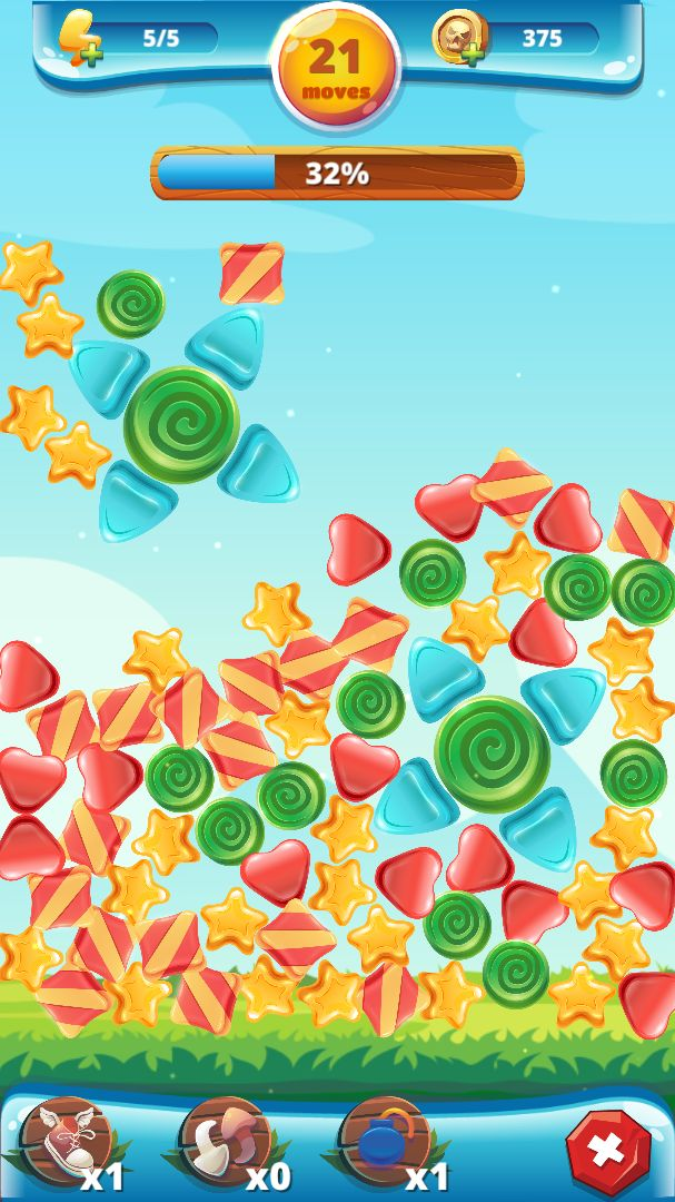 Sweety Shapes - Match-3 Unity Source Code Screenshot 6