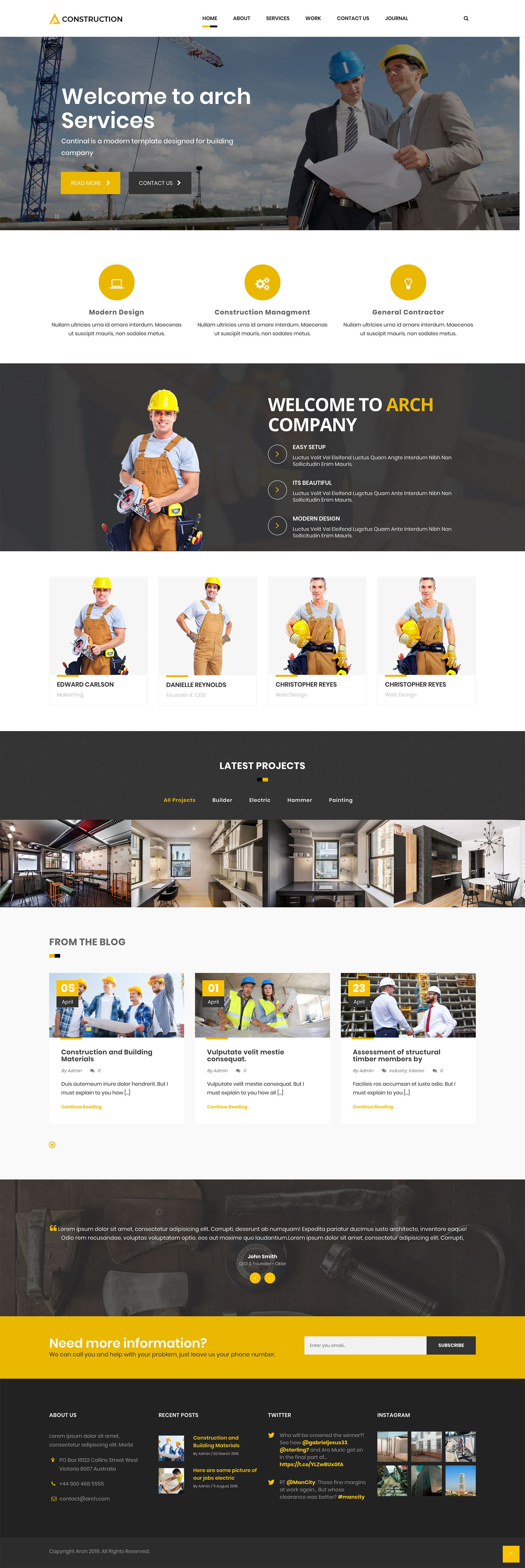 Arch - Construction Building WordPress Theme Screenshot 2