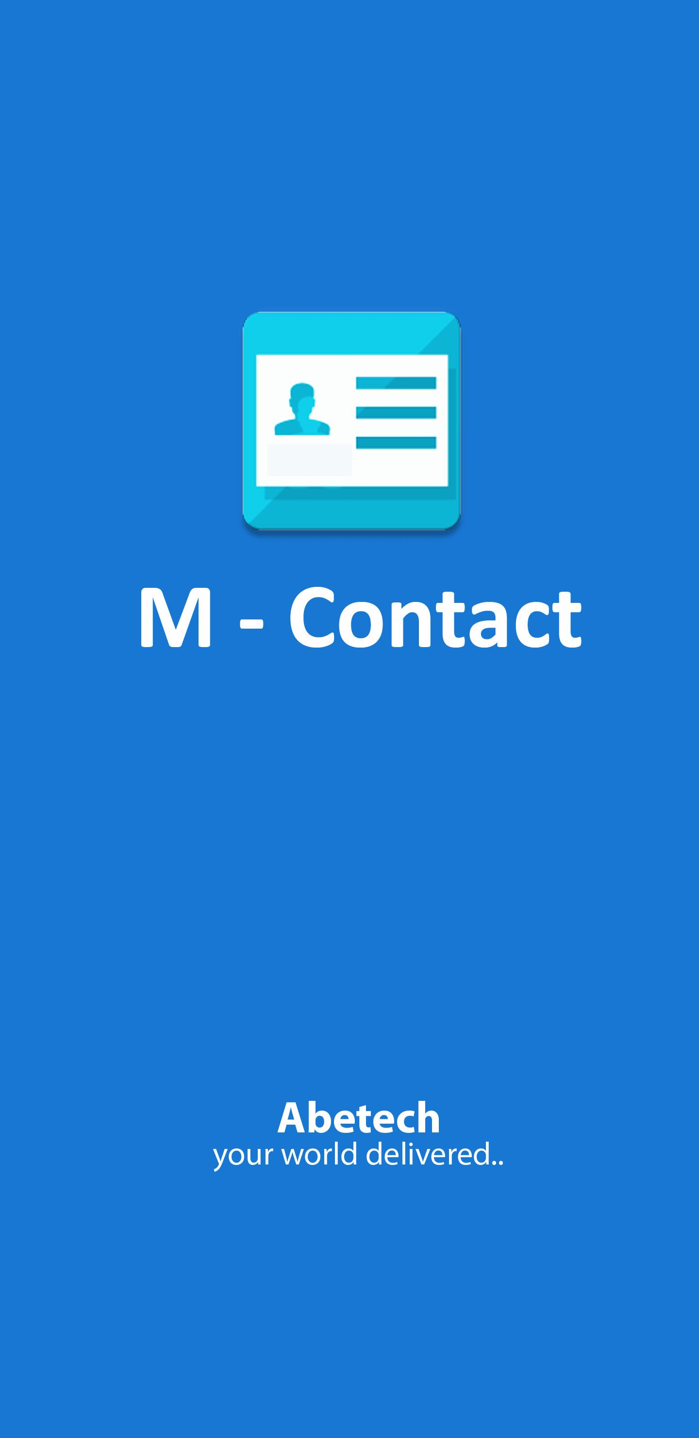M-Contacts - Android Source Code  Screenshot 1