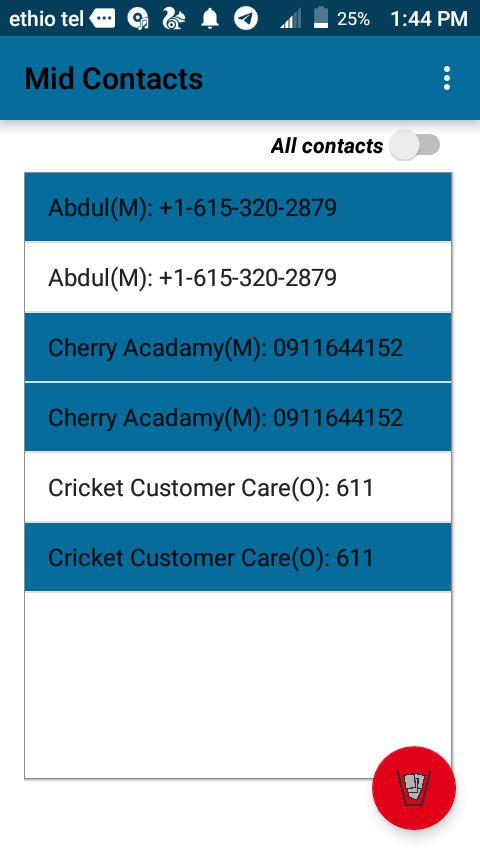 M-Contacts - Android Source Code  Screenshot 4
