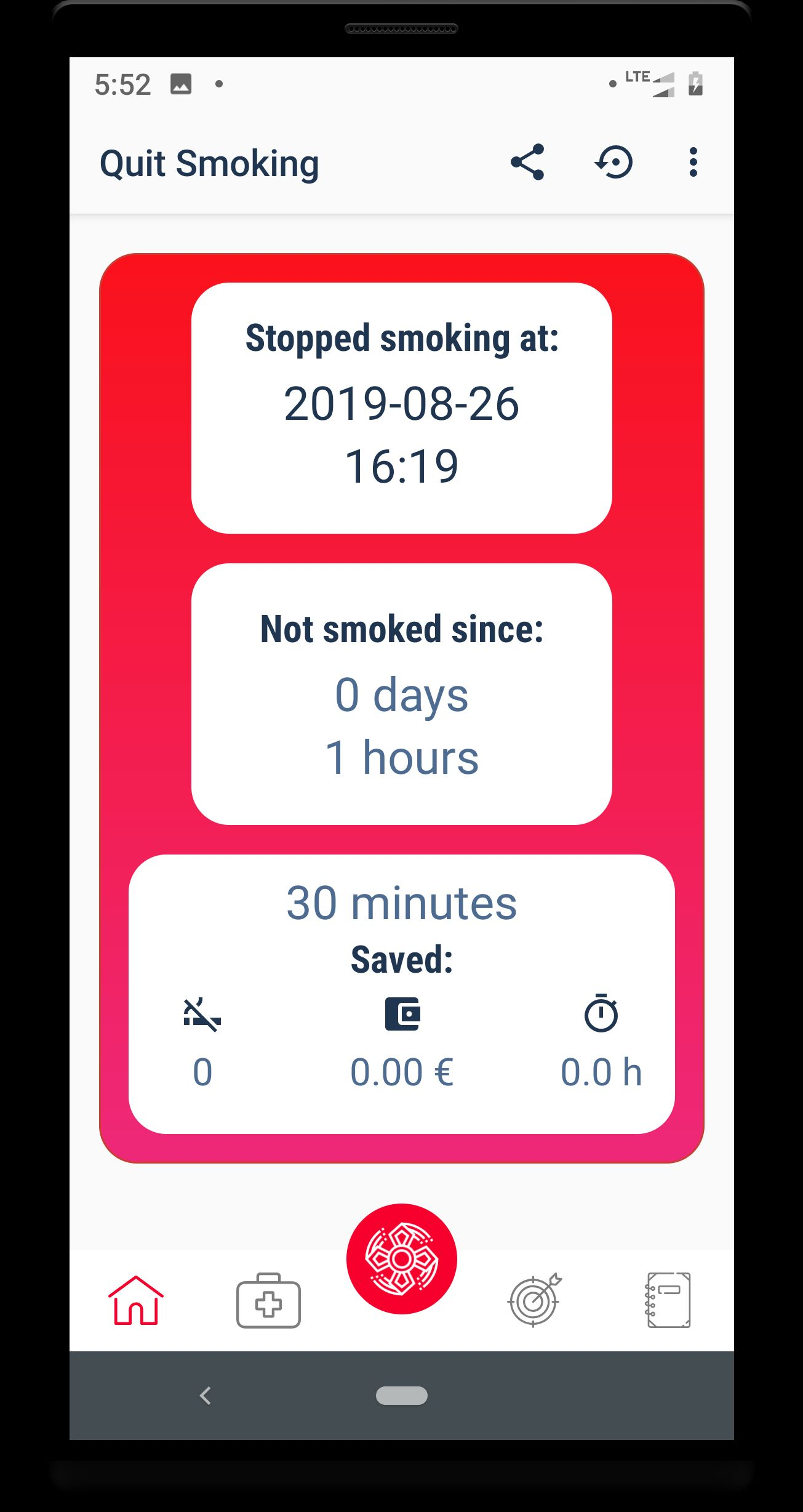 Quit smoking - Android Source code Screenshot 3