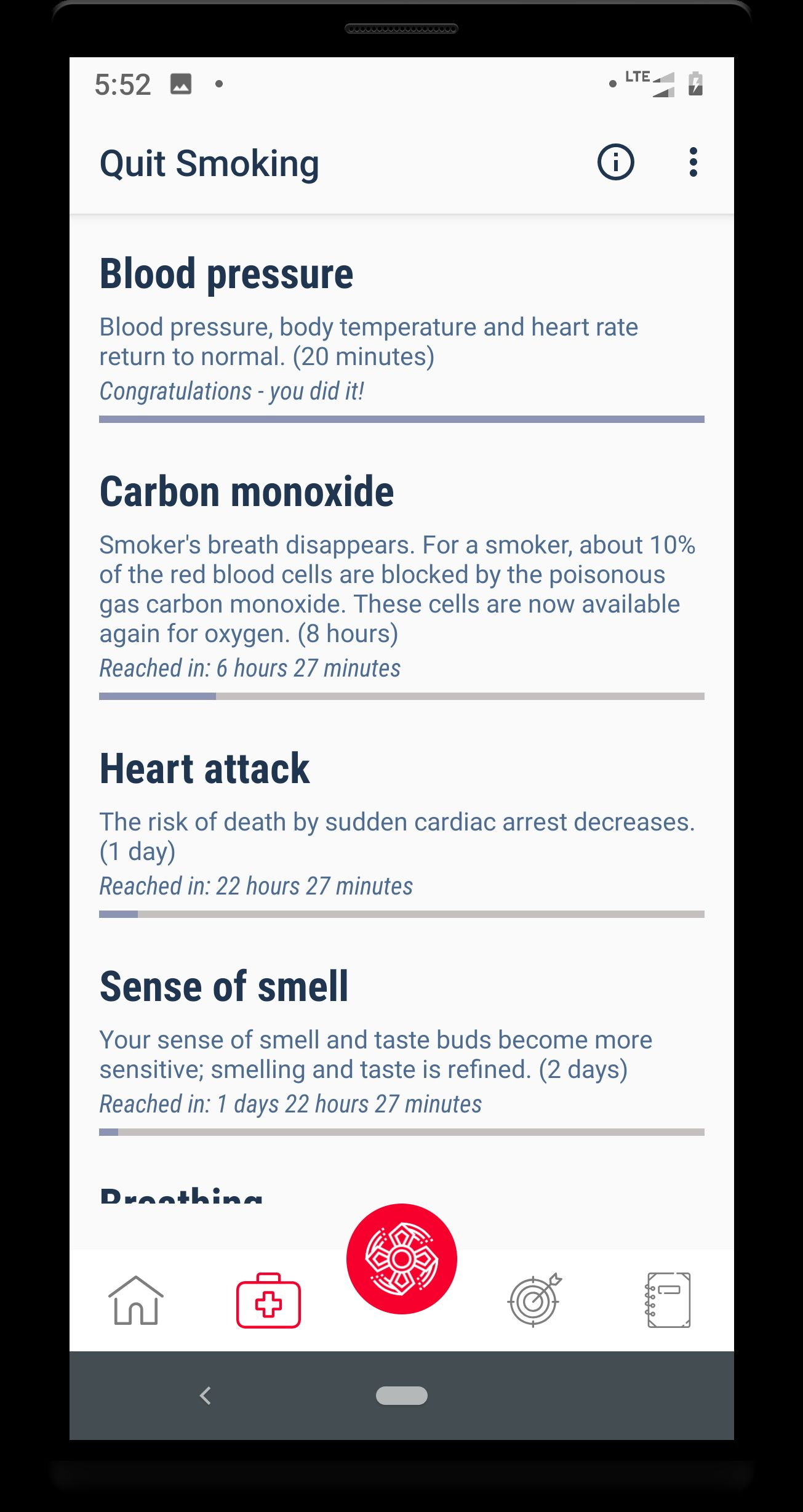 Quit smoking - Android Source code Screenshot 4