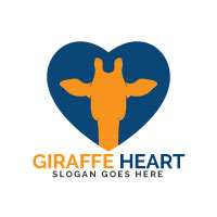Giraffe Heart Logo Design