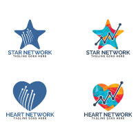 Heart And Star network Logo