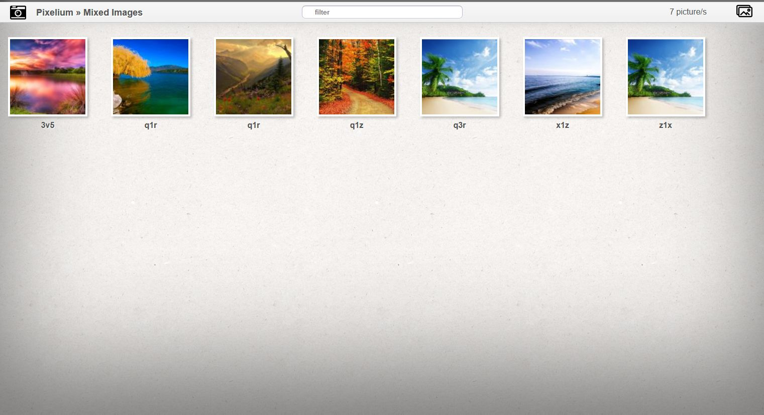 Pixelium - Photo Gallery PHP Script Screenshot 3