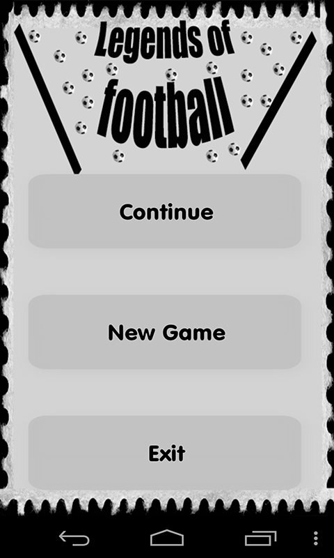 Football Legends Quiz Game Android App Source Code Screenshot 1