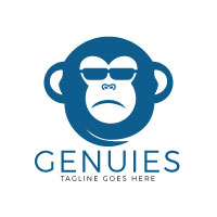 Genius Monkey Logo Design
