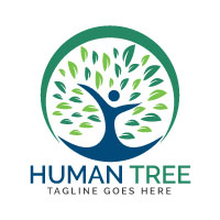 Human Tree Logo Design