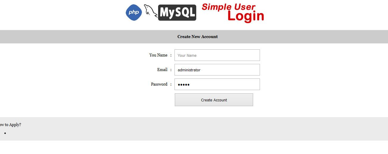 Simple User Login - PHP Script Screenshot 3