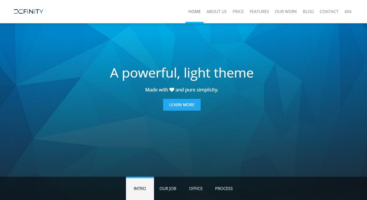 XFinity - Onepage Multipurpose HTML5 Theme Screenshot 1