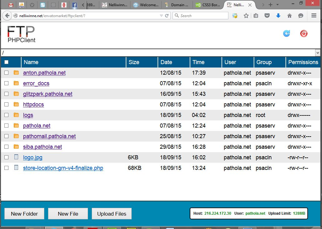 FTP PHP Client - PHP Script Screenshot 1