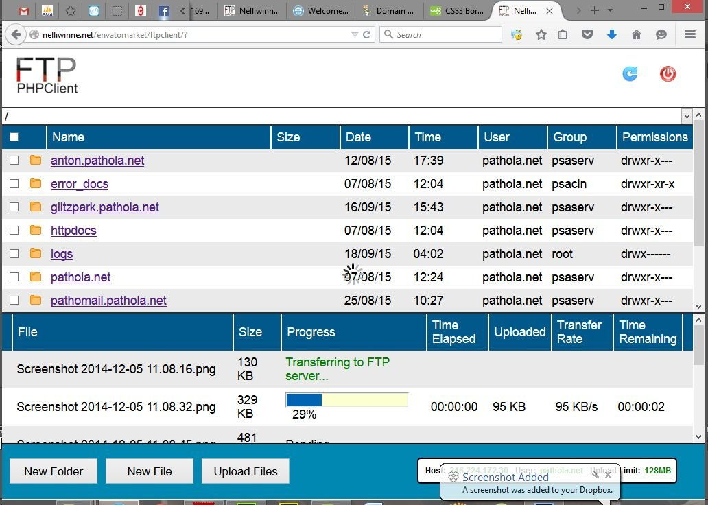 FTP PHP Client - PHP Script Screenshot 2