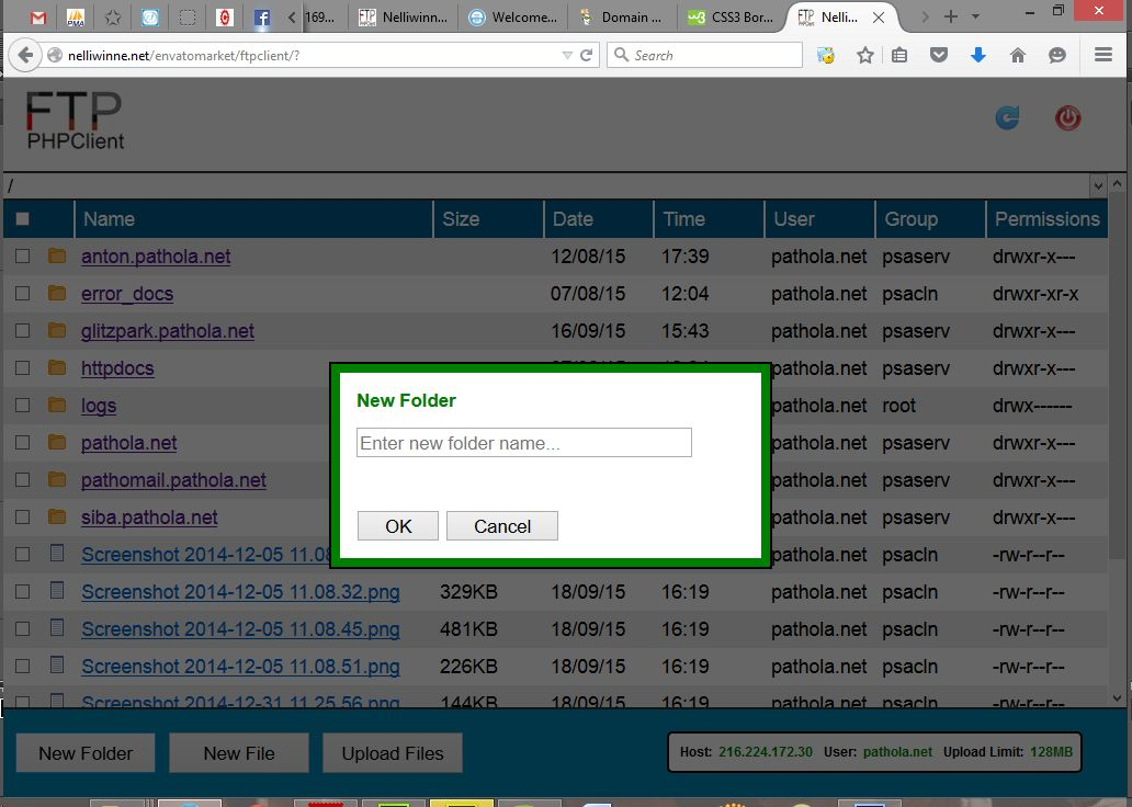 FTP PHP Client - PHP Script Screenshot 3