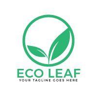 Eco Leaf Vector Logo Design