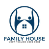 family-house-vector-logo-design