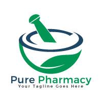 Pure Pharmacy Vector Logo Design