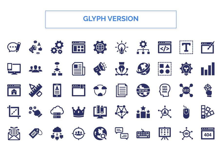200 Web Optimization Vector Icons Pack Screenshot 2