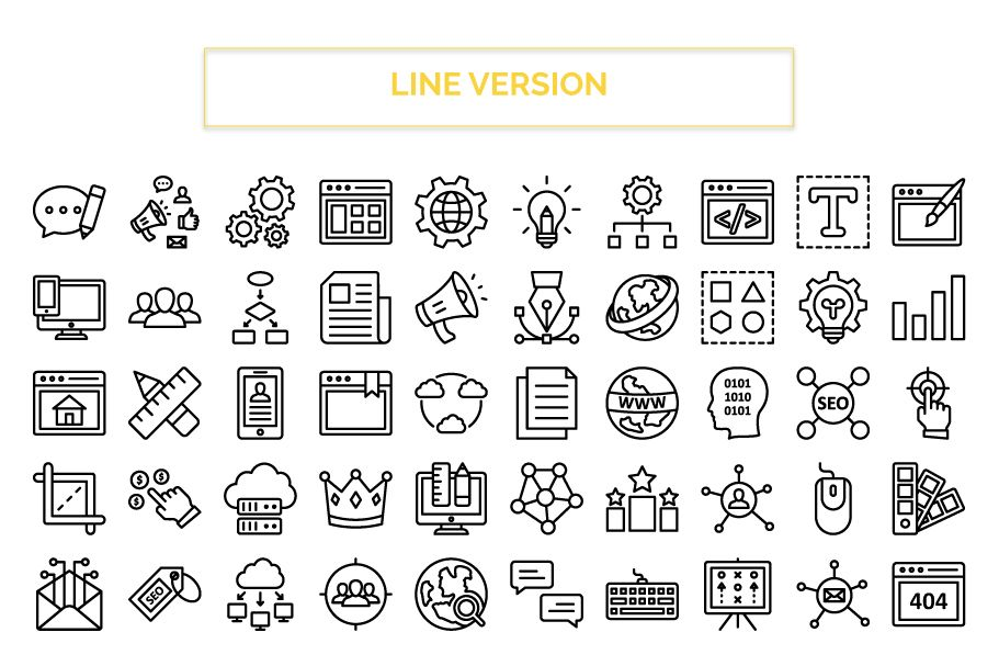 200 Web Optimization Vector Icons Pack Screenshot 4