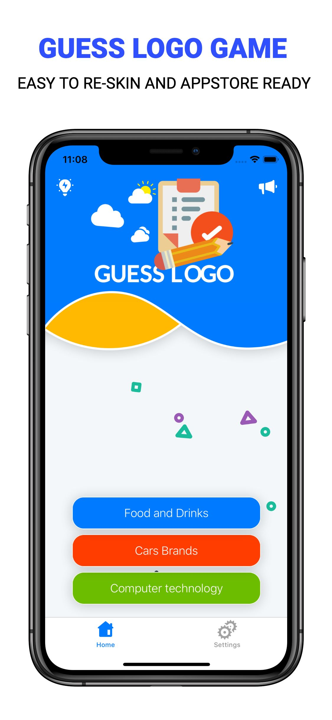 Guess Logo - iOS Game Source Code Screenshot 2