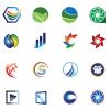Colorful Logo Icon Set Vector Image