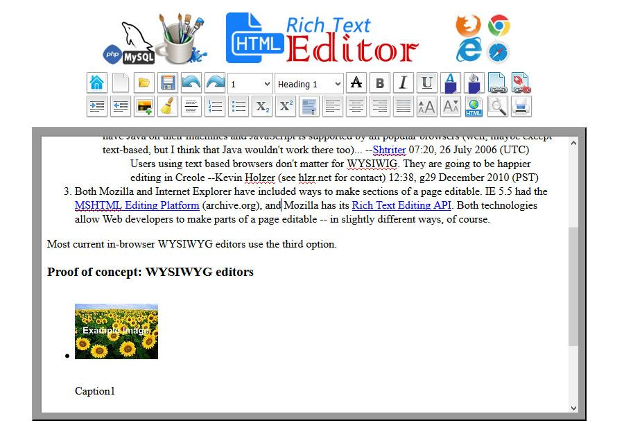 HTML WYSIWYG Rich Text Editor -  PHP Script Screenshot 6