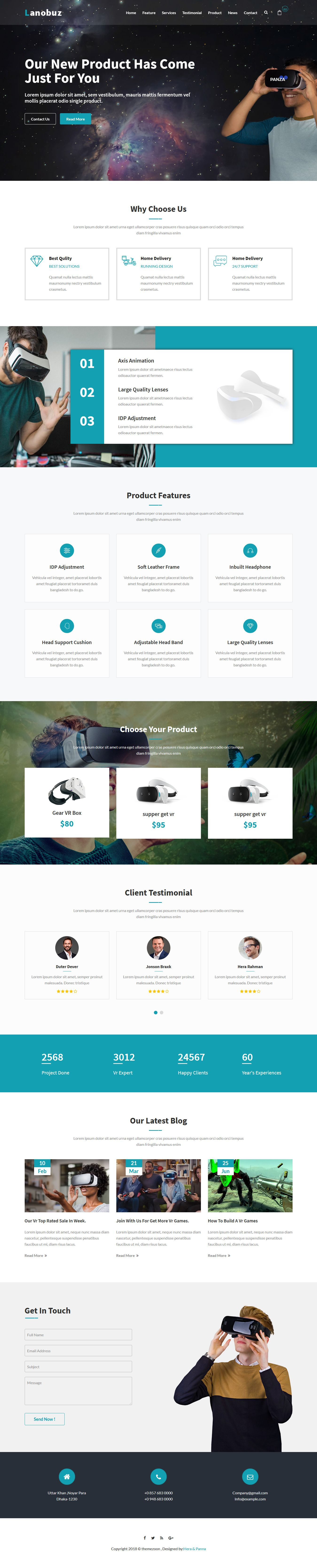 Lanobuz - Single Product Landing Page  Screenshot 1
