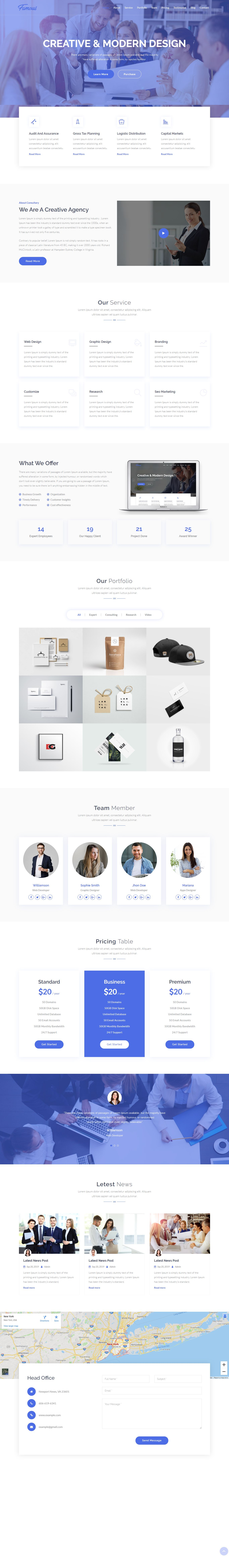 Famous - Digital Corporate Business Template Screenshot 1