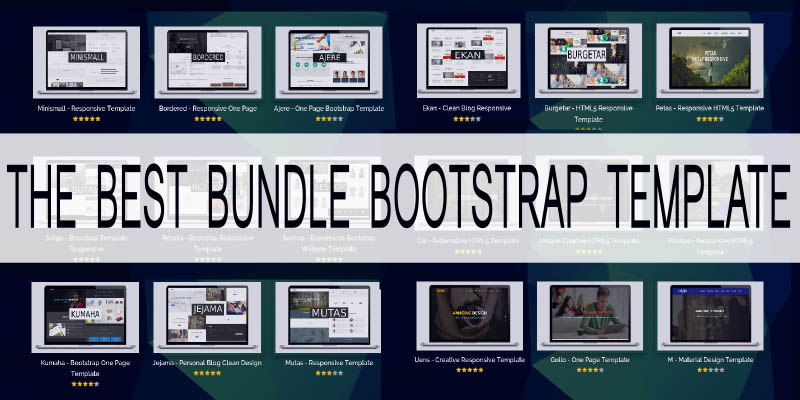 the best bundle bootstrap template miscellaneous html website templates codester. Black Bedroom Furniture Sets. Home Design Ideas