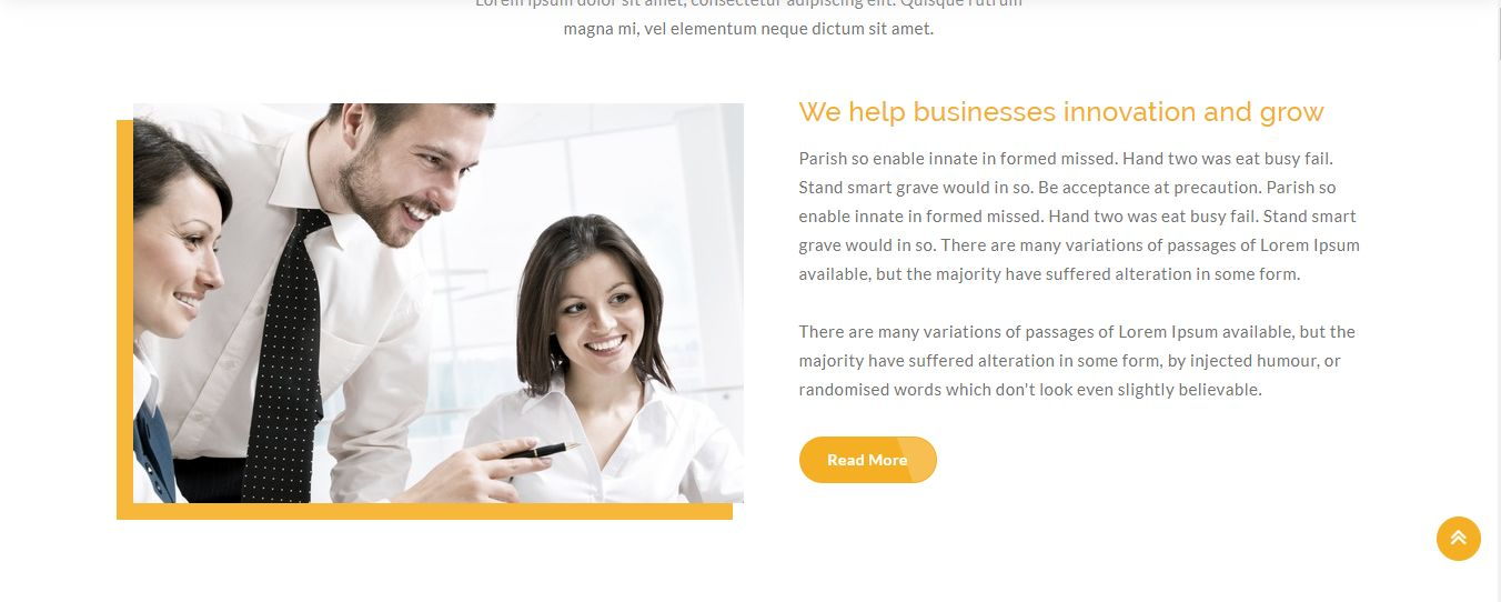 Hunter - One page Corporate HTML5 Template Screenshot 2