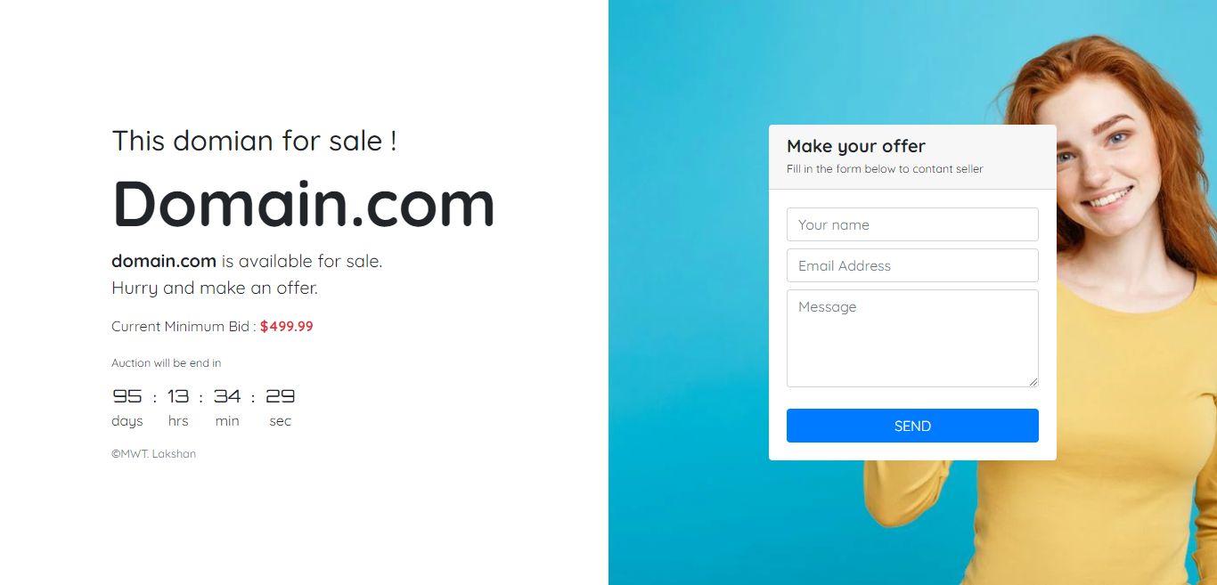 domain for sale html website template codester. Black Bedroom Furniture Sets. Home Design Ideas