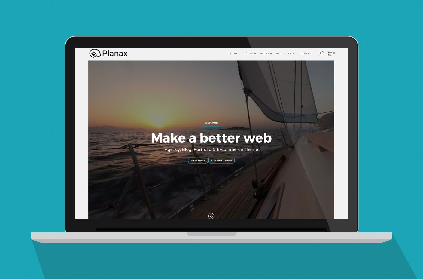 Planax - Responsive WordPress Theme Screenshot 1